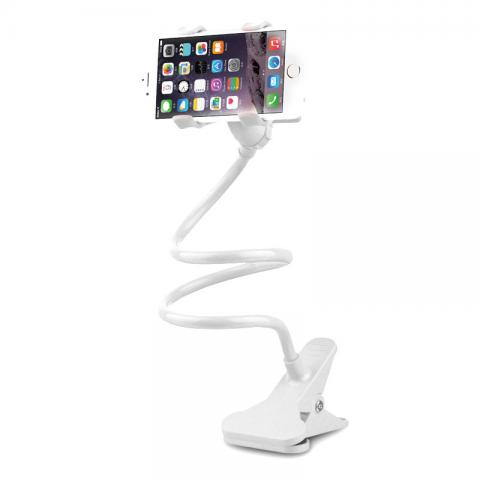 cheap 360 Degree Flexible Twist Phone Holder - White
