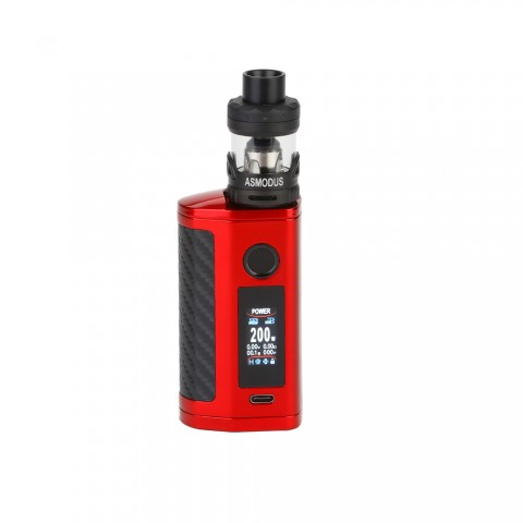 cheap 200W Asmodus Minikin 3S TC Kit with Viento Tank - Red 3.5ml Standard Edition