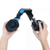 Vapeonly Single Jack Gaming Headset for PS4 Xbox1 with Omnidirectional Microphone - Black/Blue-3