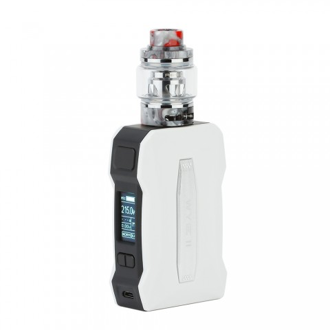 cheap 215W Tesla WYE II TC Kit with Resin Tank - White