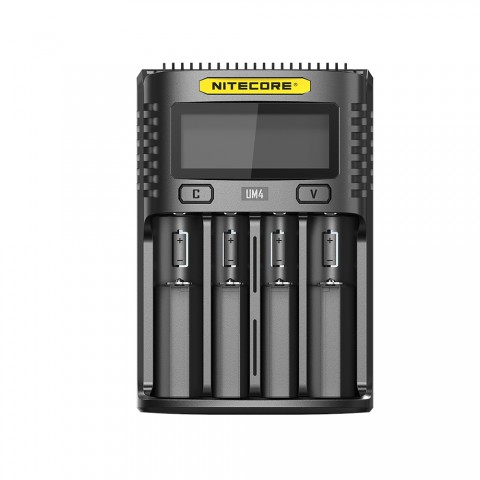 cheap Nitecore UM4 4-slot Quick Charger, Black