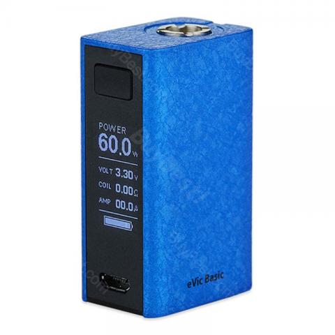 cheap 60W Joyetech eVic Basic TC MOD - 1500mAh, Blue Wrinkle