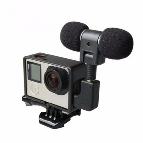 ET Mini Denoising Stereo Microphone For Gopro