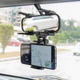 ET JC-1 Car Rearview Mirror Phone Holder, Black-3