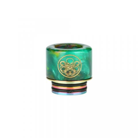 cheap Shield Cig 810 Resin Drip Tip  - Green Type A
