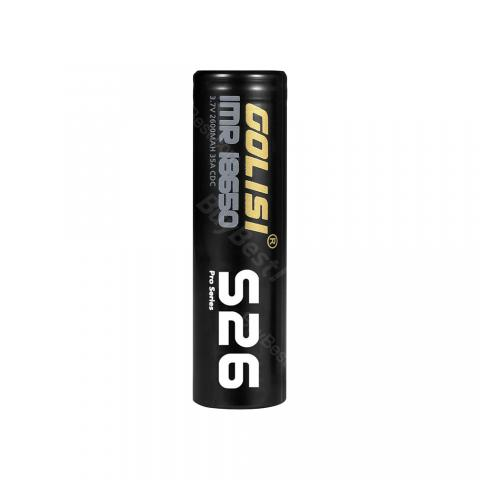 Golisi S26 IMR 18650 35A Rechargeable High-drain Li-ion Battery - 2600mAh