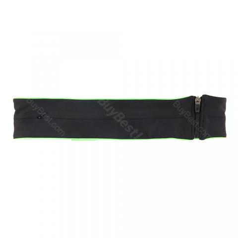 cheap Invisible Zipper Waist Bag - Black S