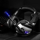 Vapeonly Gaming Headset for PS4 XBOX1 with LED Light - Black/Grey-4