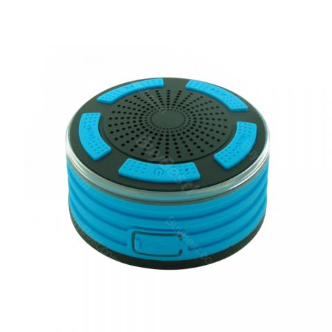 cheap Waterproof IPX7 Bluetooth Speaker with Led Light and Suck - Blue