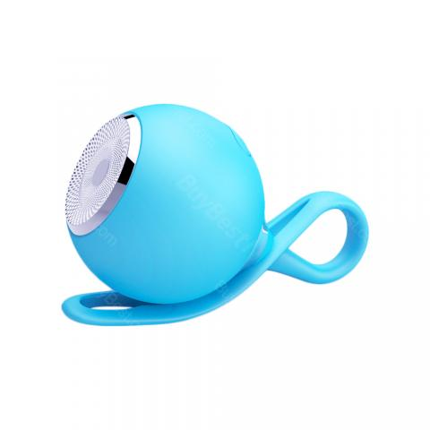 cheap Silicone Mini Ball Outdoor Waterproof Bluetooth Speaker   - Blue