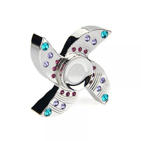 cheap V2 Crown Four Spins Fidget Spinner with Ceramic Bearing & Luxury Rhinestones