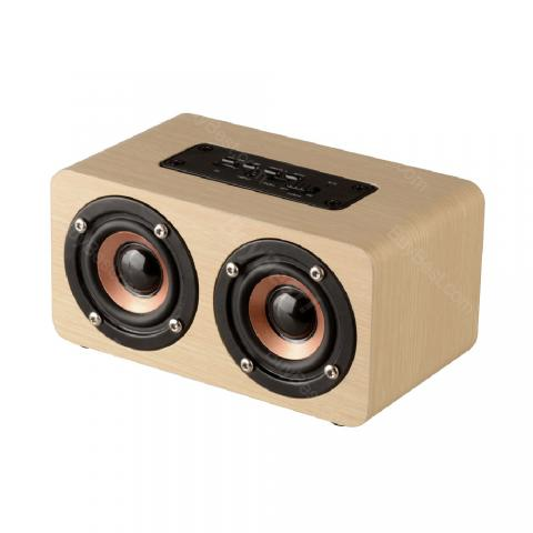 cheap W5 Wooden Box Wireless Bluetooth Speaker - Wood