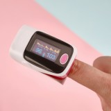 BGM-1 Medical Finger Pulse Oximeter Ear Thermometer, Pink-1