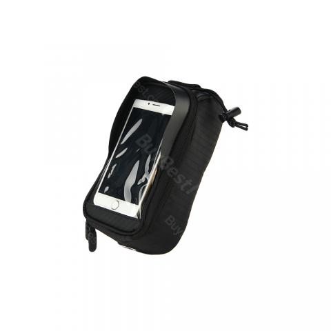 cheap Bicycle Top Tube Phone Bag for Cycling - Black M