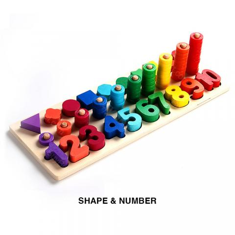 cheap Enjoybay Count Numbers Matching Digital Shape - Type A