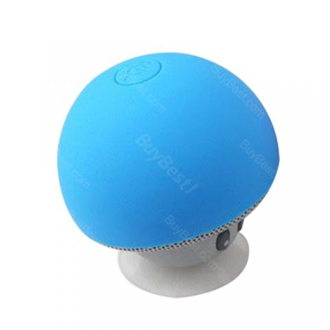 cheap Easy-to-use Mini Mushroom Wireless Bluetooth Speaker with Suction Cup, Blue