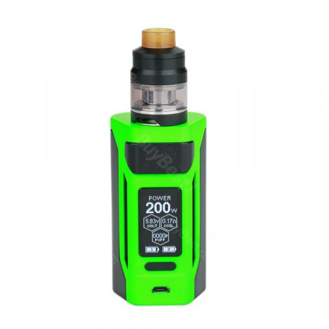 cheap 200W WISMEC Reuleaux RX2 Kit with Gnome Tank - Green 4ml