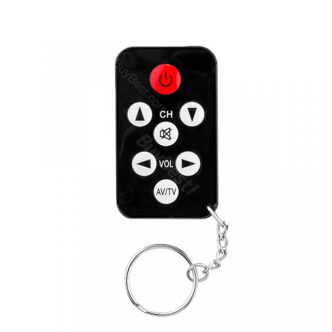 cheap YS-5 TV Set Remote Control Keychain only for Analog TV , Black