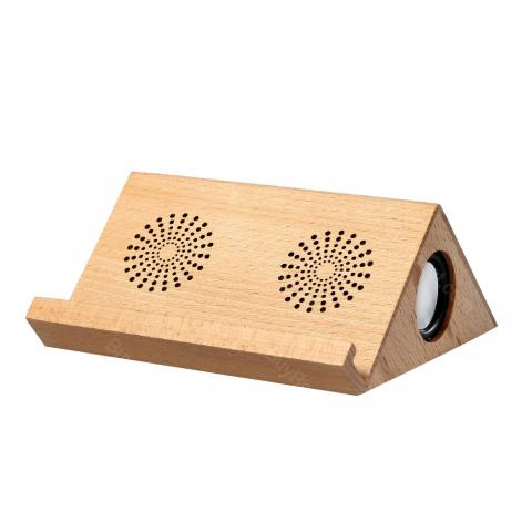 cheap Triangle Wooden Bluetooth Speaker - Wood