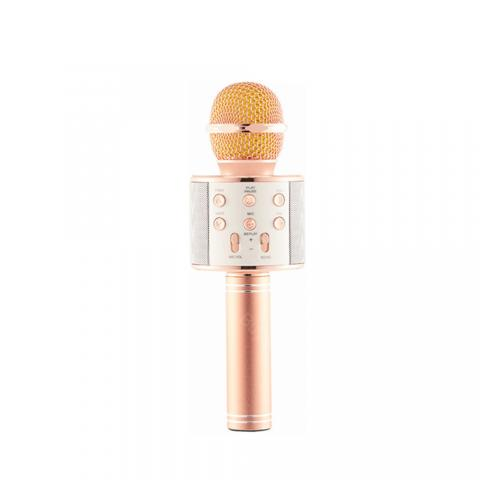 cheap WS858 Bluetooth Microphone Speaker - Rose Gold