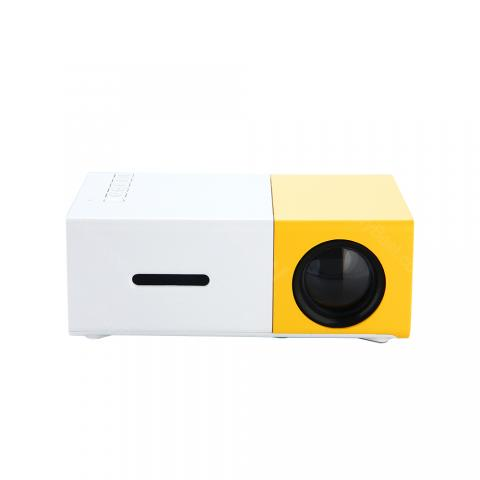 cheap HD Mini LCD Projector Max 600 Lumens - White/Yellow