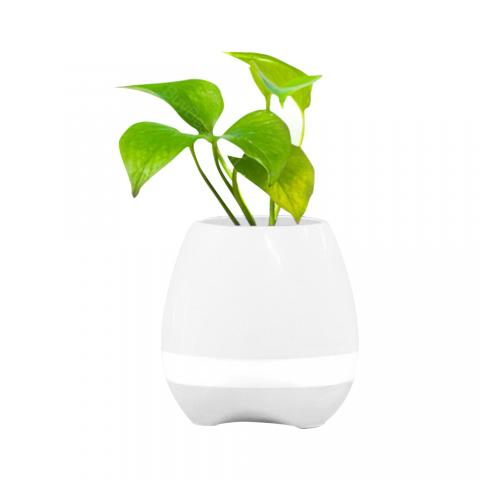 cheap Music Flower Pot Bluetooth Speaker - White