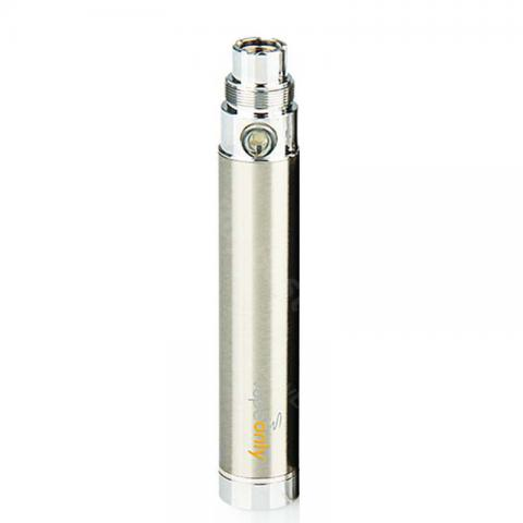 cheap VapeOnly eGo USB Passthrough Battery - 650mAh/1100mAh/1600mAh, Silver 650mAh