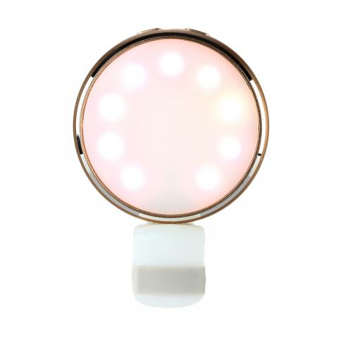 cheap 7 Color LED Photography Selfie Flash Light with Mirror