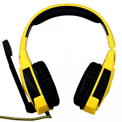 cheap KOTION EACH G4000 Headset - USB Version, Black/Yellow
