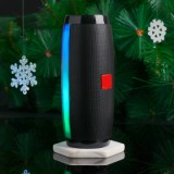 Vapeonly Wireless LED Portable Bluetooth Speaker with Color Changing - Black-4
