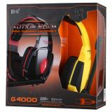 KOTION EACH G4000 Headset - USB Version, Black/Yellow-4
