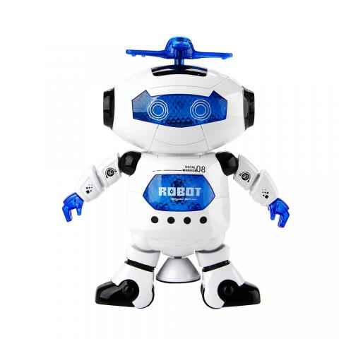 cheap Dancing Humanoid Robot Toy with Light - White