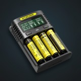 Nitecore UM4 4-slot Quick Charger, Black-1