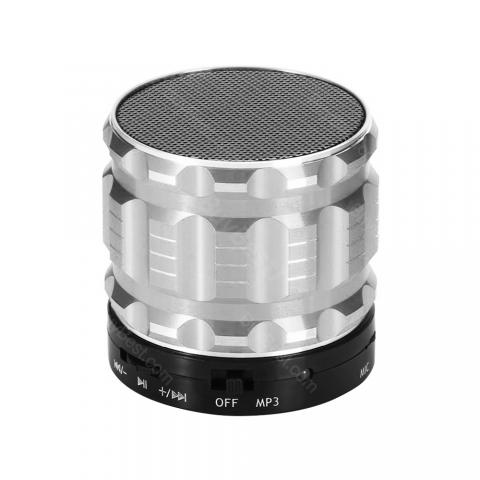 cheap S28 Metal Mobile Bluetooth Speaker - Silver