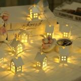 G&T LED Christmas Tree House Christmas Decoration Gift - White Type A-2
