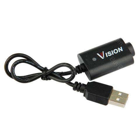 cheap Vision USB Cable eGo Charger for e-Cigarette Battery, Black