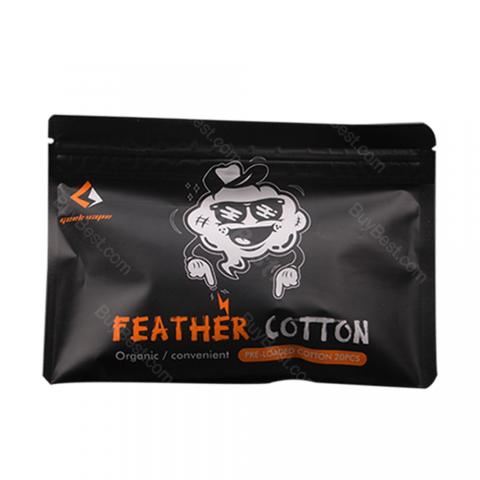 cheap GeekVape Squares of Feather Organic Cotton 20pcs/pack - Type A