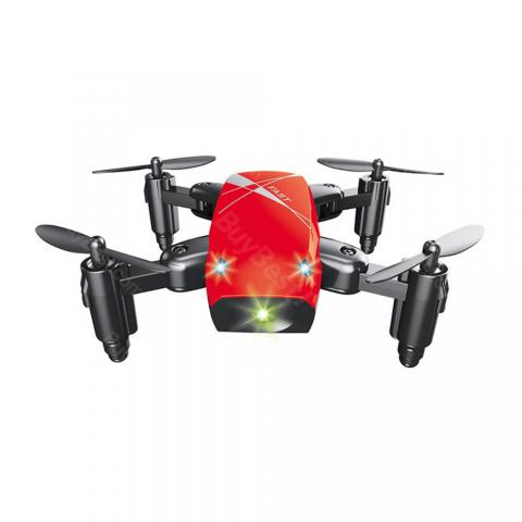 cheap Mini Foldable Drones RC Helicopters with Easy-to-Read APP, Red Type A