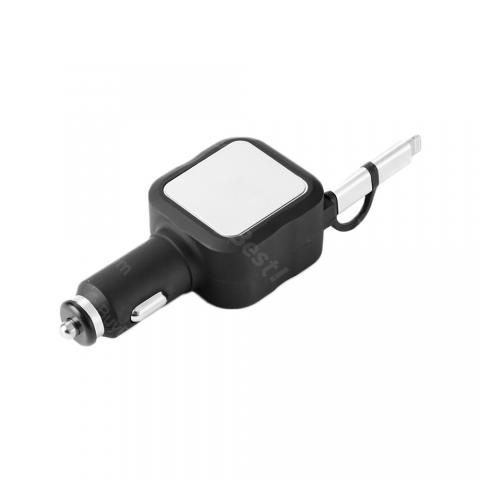 cheap ET JY-1 2 In 1 USB Charger, Black/Silver