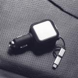 ET JY-1 2 In 1 USB Charger, Black/Silver-4