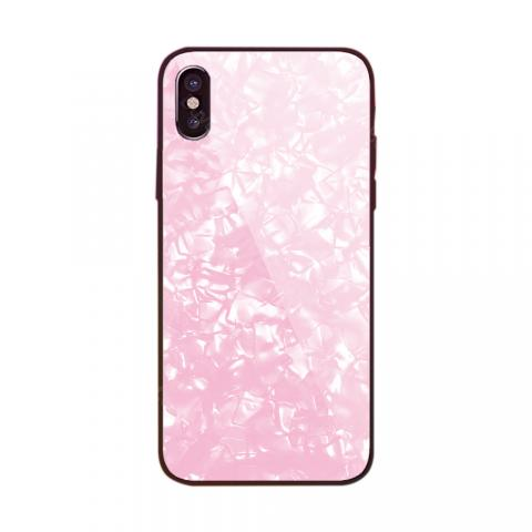 cheap ET SJ-2 Conch Tempered Glass Phone Case for iPhone X/6/6s/7/8/6plus/6splus/7plus/8plus, Pink Type A