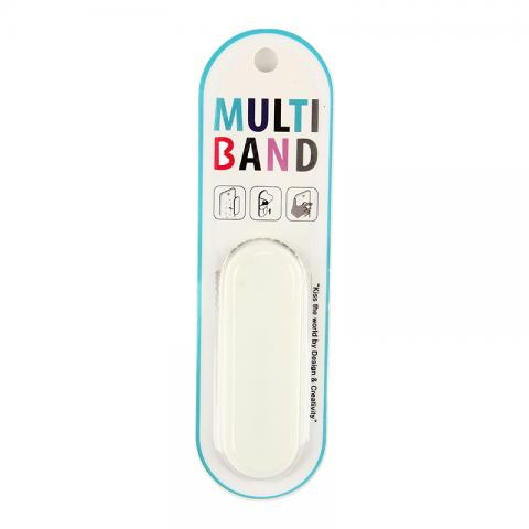 cheap Phone Stand Magic Bands Magic Stickers with Finger Holder - White