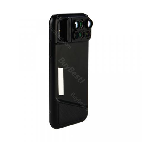 cheap X1 Phone Lens with Case for iPhone X - Black