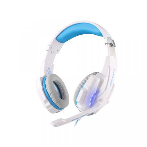 cheap KOTION EACH G9000 Headset - White/Blue