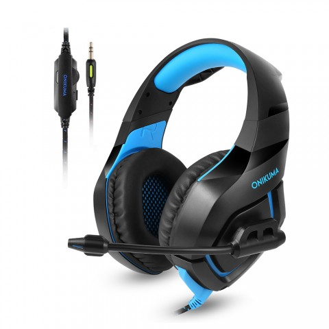 cheap Vapeonly Single Jack Gaming Headset for PS4 Xbox1 with Omnidirectional Microphone - Black/Blue
