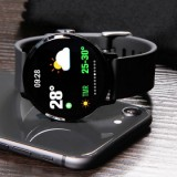 Smart Watch V11 Touch Screen Fitness Tracker Heart Rate Monitor Waterproof - Black-3