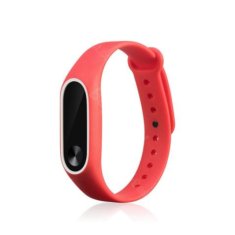cheap Mrs win Silicone Strap for Xiaomi Mi Band 2 - Red/Black