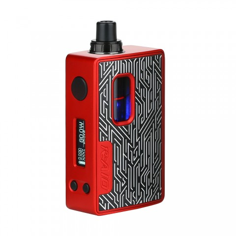 cheap 80W Hotcig R-AIO TC Vape Kit, Red