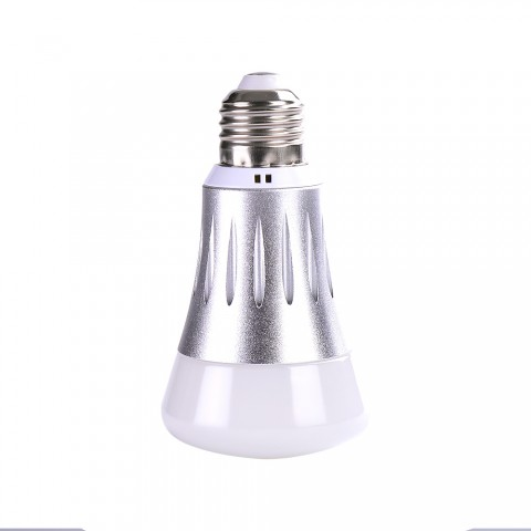 cheap Smart LED Light Wireless Bulb Lamp Remote Control - Silver