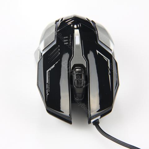 cheap K1 Wired Mute Professional Gaming Mouse - Black